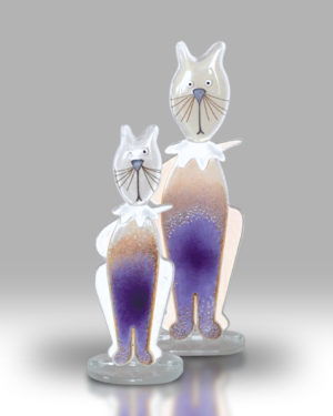 Cat & Kitten – Purple