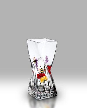 Bees & Poppy 20cm Twist Vase