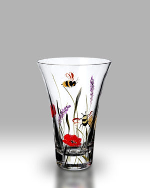 Bees & Poppy 19cm Flared Vase