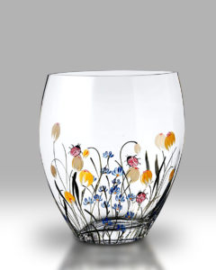 Ladybird Garden 21cm Curved Vase
