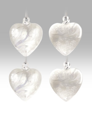 White Collection – Friendship Heart – Set of 4