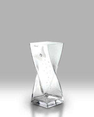 Crystal Diamond Butterfly 20cm Twist Vase