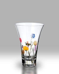 Bees & Ladybird 19cm Flared Vase
