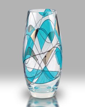 Teal Mosaic 22.5cm Classic Vase