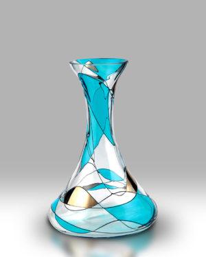 Teal Mosaic 20cm Spring Vase