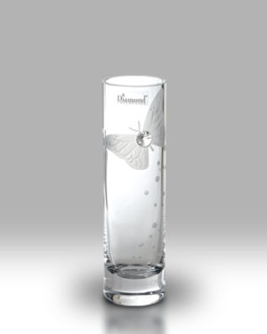 Crystal Diamond Butterfly 19.5cm Bud Vase