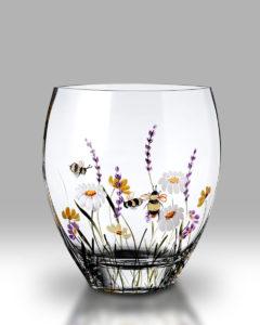 Bees & Blooms 21cm Flared Vase