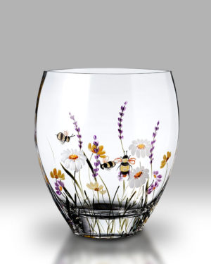 Bees & Blooms 21cm Flared Vase