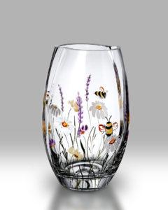Bees & Blooms 20cm Round Vase