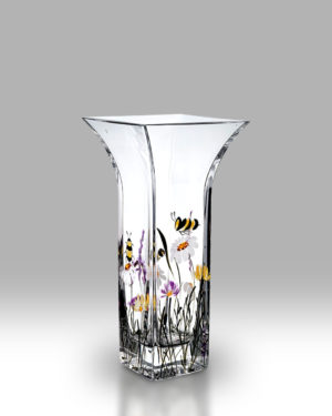 Bees & Blooms 22.5cm Flared Vase