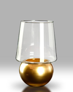 Candle Lantern – Gold