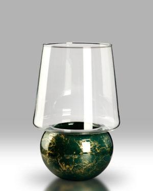 Candle Lantern – Jade Gold