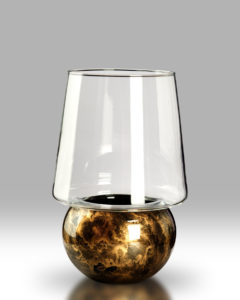 Candle Lantern – Black Gold