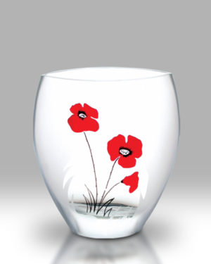 Classic Poppy 21cm Curved Vase