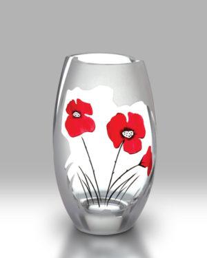 Classic Poppy 20cm Round Vase