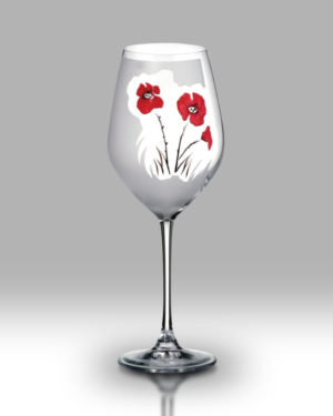 Classic Poppy 24cm Wine Pair
