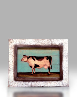 Cow – White Frame