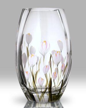 Crocus – Lotus White 20cm Round Vase