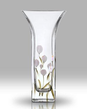 Crocus – Lotus White 22.5cm Flared Vase