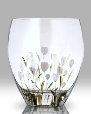 Crocus – Lotus White 21cm Curve Vase