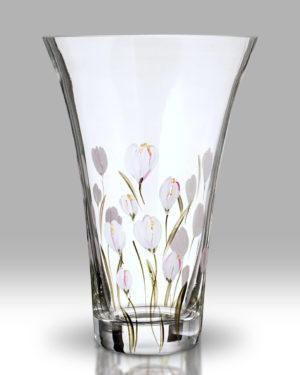 Crocus – Lotus White 19cm Flared Vase