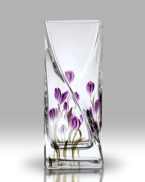 Crocus – Mulberry 20cm Twist Vase