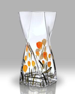 Crocus – Saffron 20cm Twist Vase