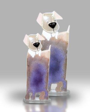Dog & Puppy – Purple