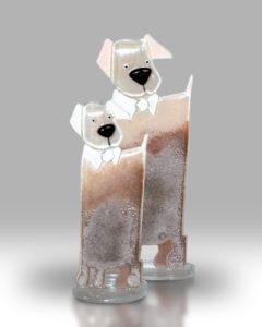 Dog & Puppy – Grey