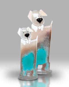Dog & Puppy – Ocean Blue