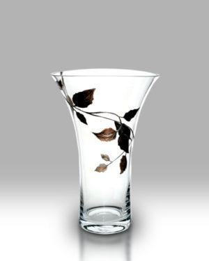 Gold Leaf 28.5cm Flared Vase
