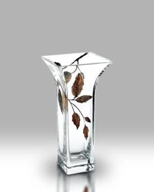 Gold Leaf 22.5cm Flared Vase