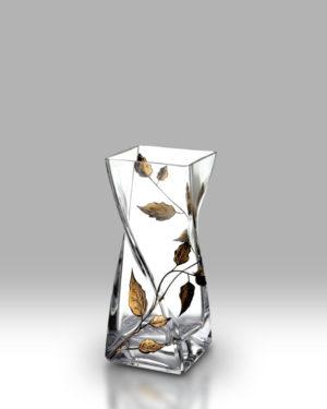 Gold Leaf 20cm Twist Vase