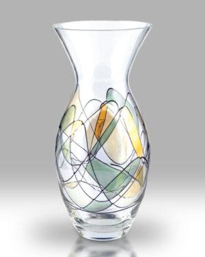 Gold Mosaic 31cm Tulip Vase