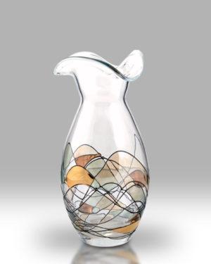 Gold Mosaic 23cm Flared Posy Vase
