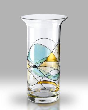 Gold Mosaic 22cm Chorus Vase