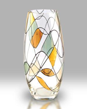 Gold Mosaic 22.5cm Classic Vase