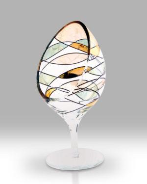 Gold Mosaic 21cm Large Candle Holder