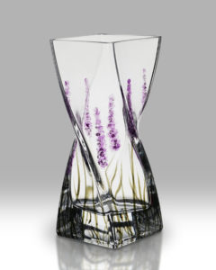 Lavender 20cm Twist Vase