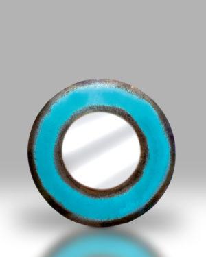 Round Mirror – Ocean Blue