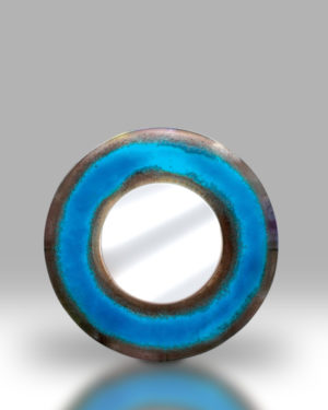 Round Mirror – Electric Blue