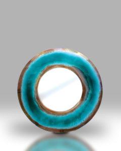 Round Mirror – Teal Blue