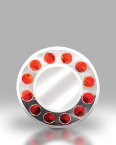 Round Mirror – Red Dots