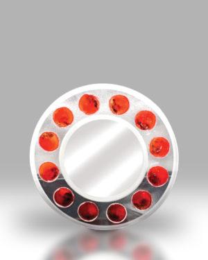 Round Mirror – Red Dots