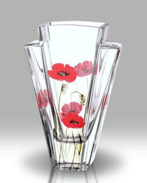 Poppy Fields 27cm Quad Vase