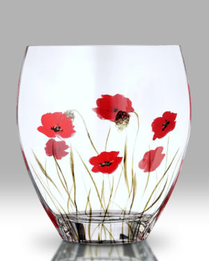 Poppy Fields 21cm Curved Vase