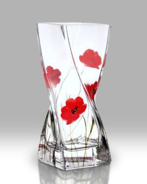 Poppy Fields 20cm Twist Vase