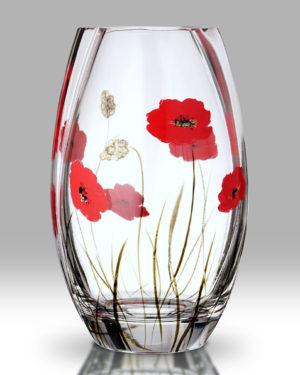 Poppy Fields 20cm Round Vase
