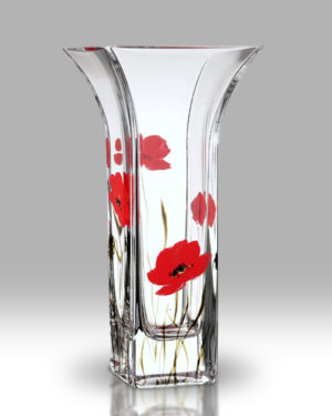 Poppy Fields 22.5cm Flared Vase