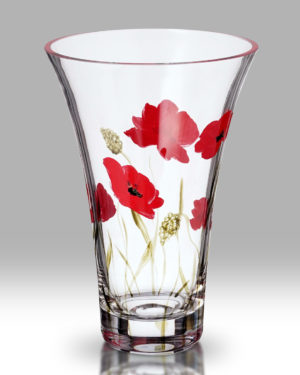 Poppy Fields 19cm Flared Vase